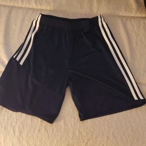 Boys Navy blue Adidas shorts